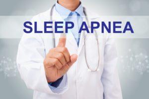 Sleep apnea dentist in The Woodlands pointing to sleep apnea.