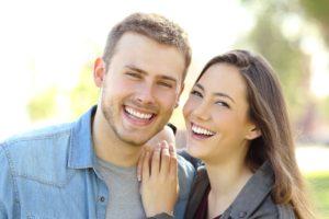 Happy couple after treating sleep apnea.